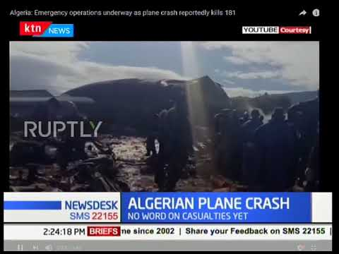 An Algerian military transport plane has crashed with reports of around 100 soldiers on board