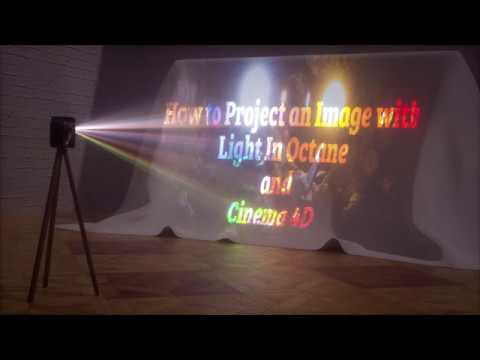 How to Project an Image With lights In octane and Cinema 4D