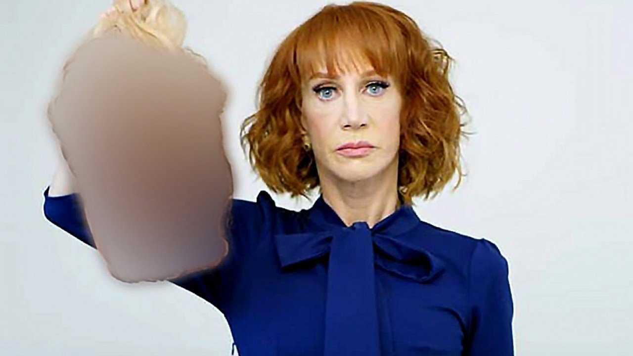 Image result for Kathy griffin with trump's head blurred you tube