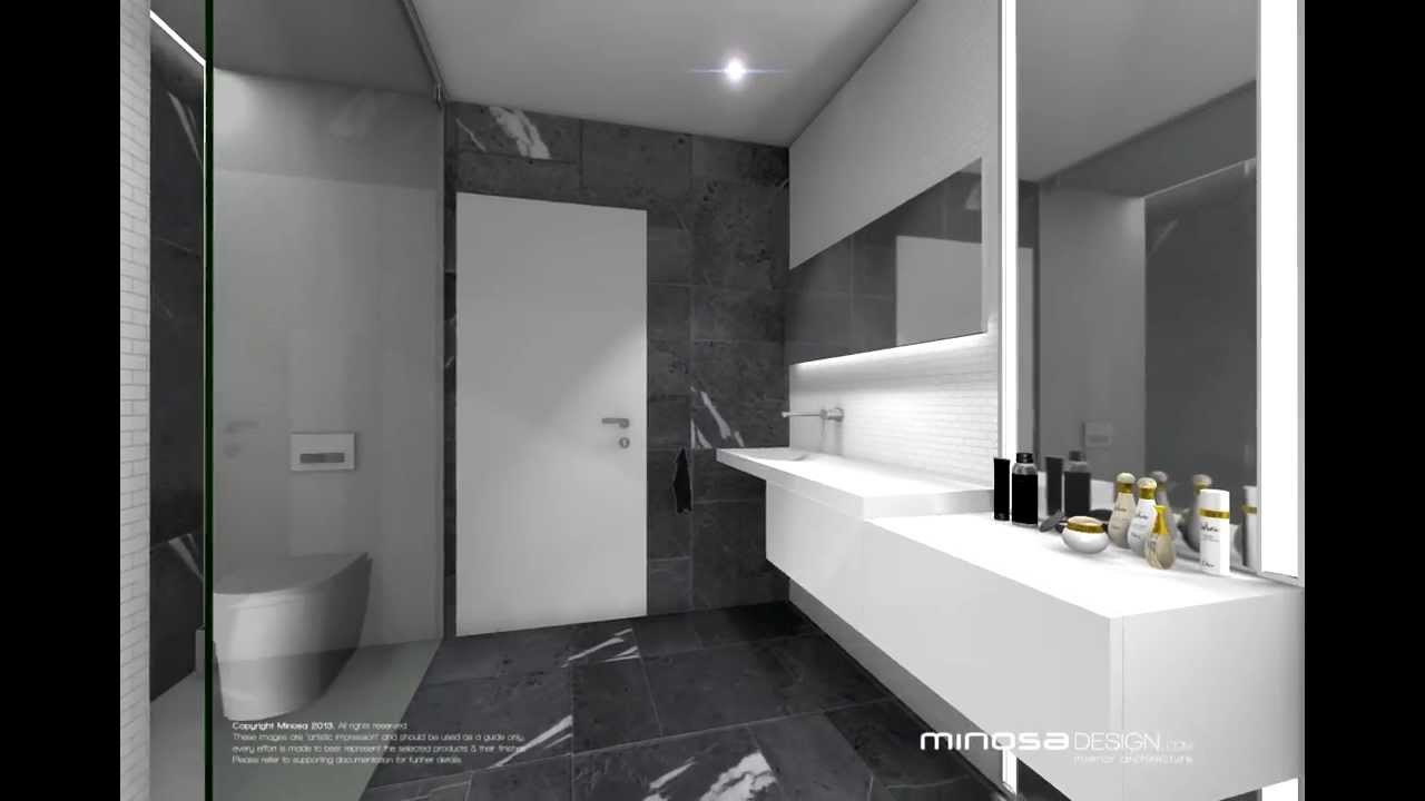 Small Black White Bathroom Bathroom Minosa 2013 Design3 Youtube