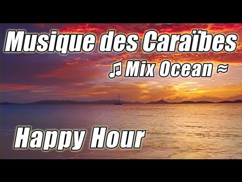 Caraïbes île Musique Relax plage tropicale happy hour chansons instrumentales étudier lecture