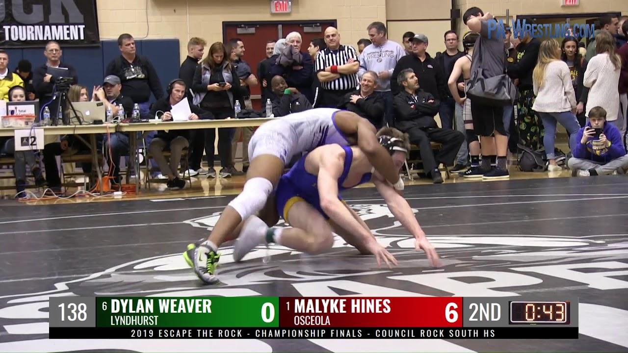 2019 Etr 138 Final Malyke Hines Osceola Fl Vs Dylan Weaver Lyndhurst Nj