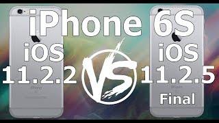 iPhone 6S : iOS 11.2.5 Final vs iOS 11.2.2 Speed Test Build 15D60