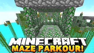 Minecraft MAZE TEMPLE PARKOUR! (Parkour Race) w/Preston & MrWoofless