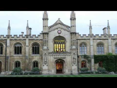 Corpus Christi College in Cambridge at Dusk in England
