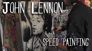 JOHN LENNON Speed PAINTING - BEATLES Art - By Stephen Quick