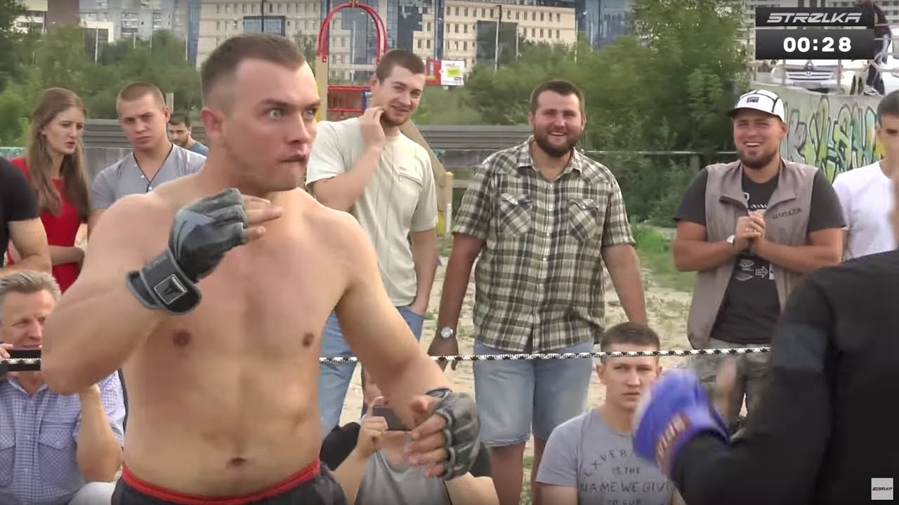 БОЕЦ ЛСД  против Бойца ММА !!! Веселый бой !!!