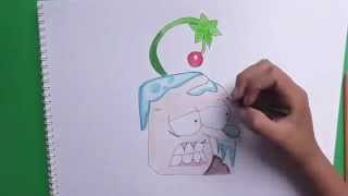 Dibujando y coloreando a Ginseng (Plantas vs Zombies) - Drawing and coloring Ginseng