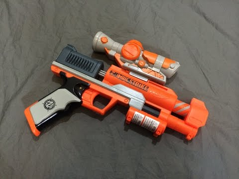 Nerf Zombie Strike Clear Shot  & Firing Test