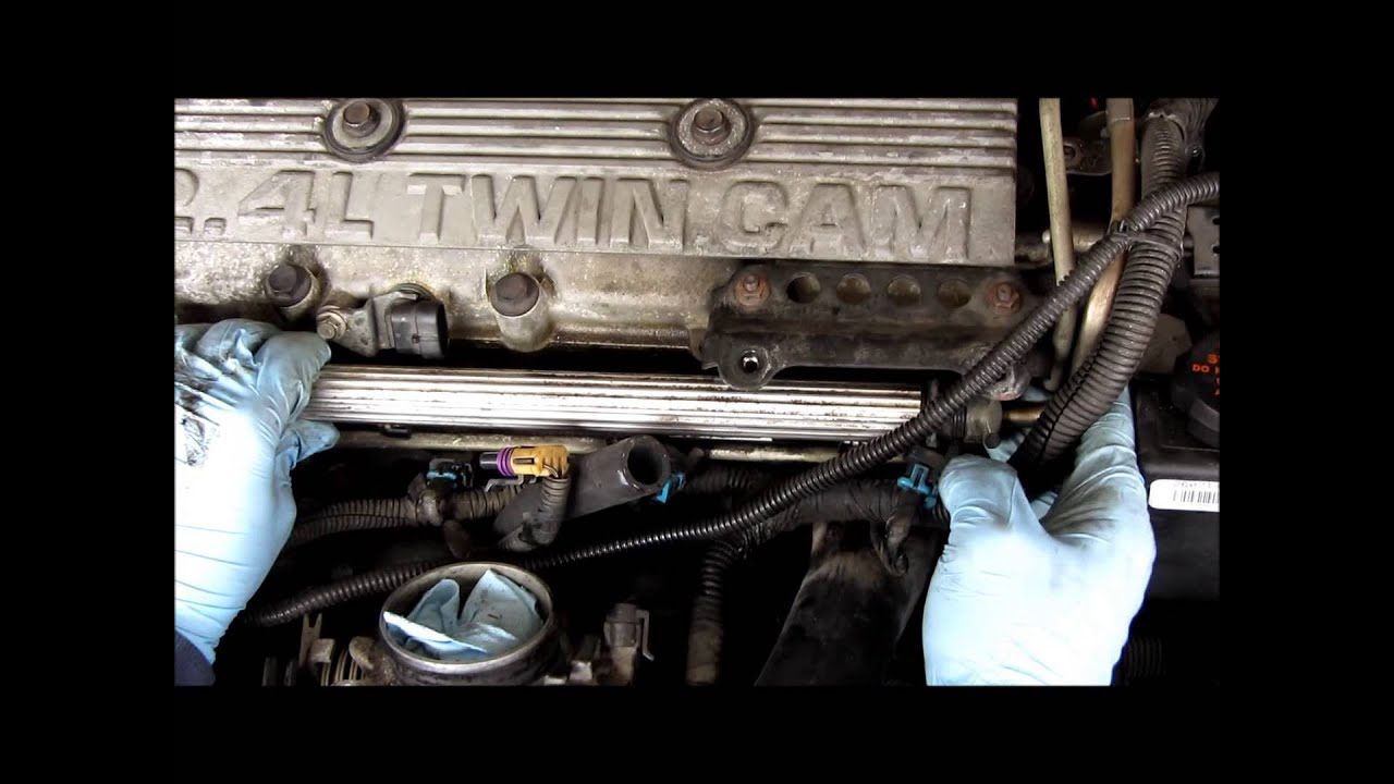 1999 Pontiac Sunfire Engine Diagram Real Wiring 1997 Grand Prix Gm 2 4 Fuel Injector Replacement Youtube 2000