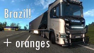 STREAM//Brazil map with custom Scania BR3900 and oranges - Euro Truck Simulator 2