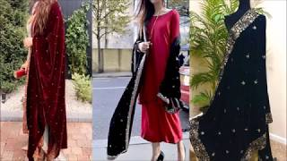 Salwar Suit With Velvet Dupatta