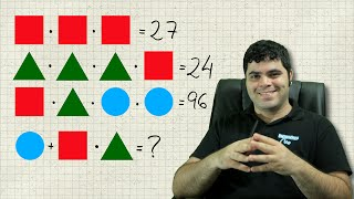 Problema das Figuras Geométricas - QUAL É O VALOR FINAL? | Matemática Rio