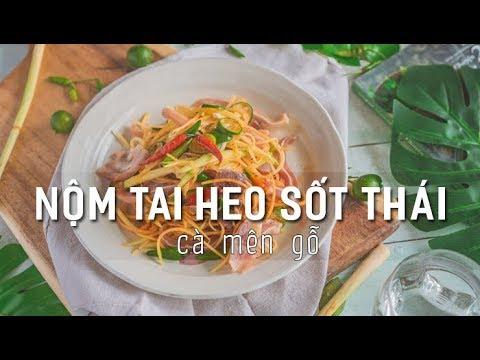 Cách làm Nôm Tai Heo Sốt Thái | Ngon Giòn Sần Sật | Cà Mên Gỗ