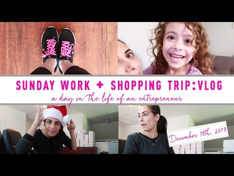 Sunday work + Shopping trip to pick up a few things... VLOG: December 10th 2017