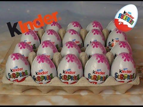 Kinder surprise eggs opening
