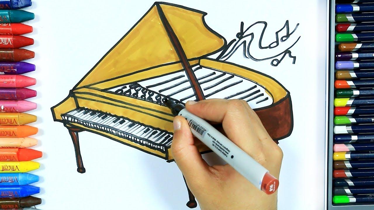 Piyano Nasil Cizilir Boya Boya Cizelim Boyayalim