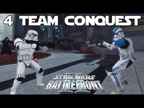 Star Wars Battlefront 2 Mod | Rumble Conquest | 4 Team Conquest! thumbnail