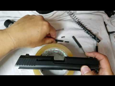 Hk USP Disassembling Slide (Removing Firing Pin) 공이분리 방법