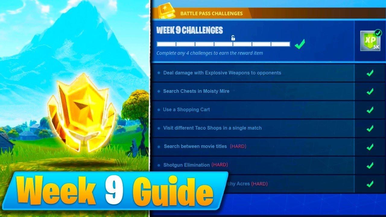 Fortnite Week 9 Challenges Guide Treasure Map Season 4 Battle
