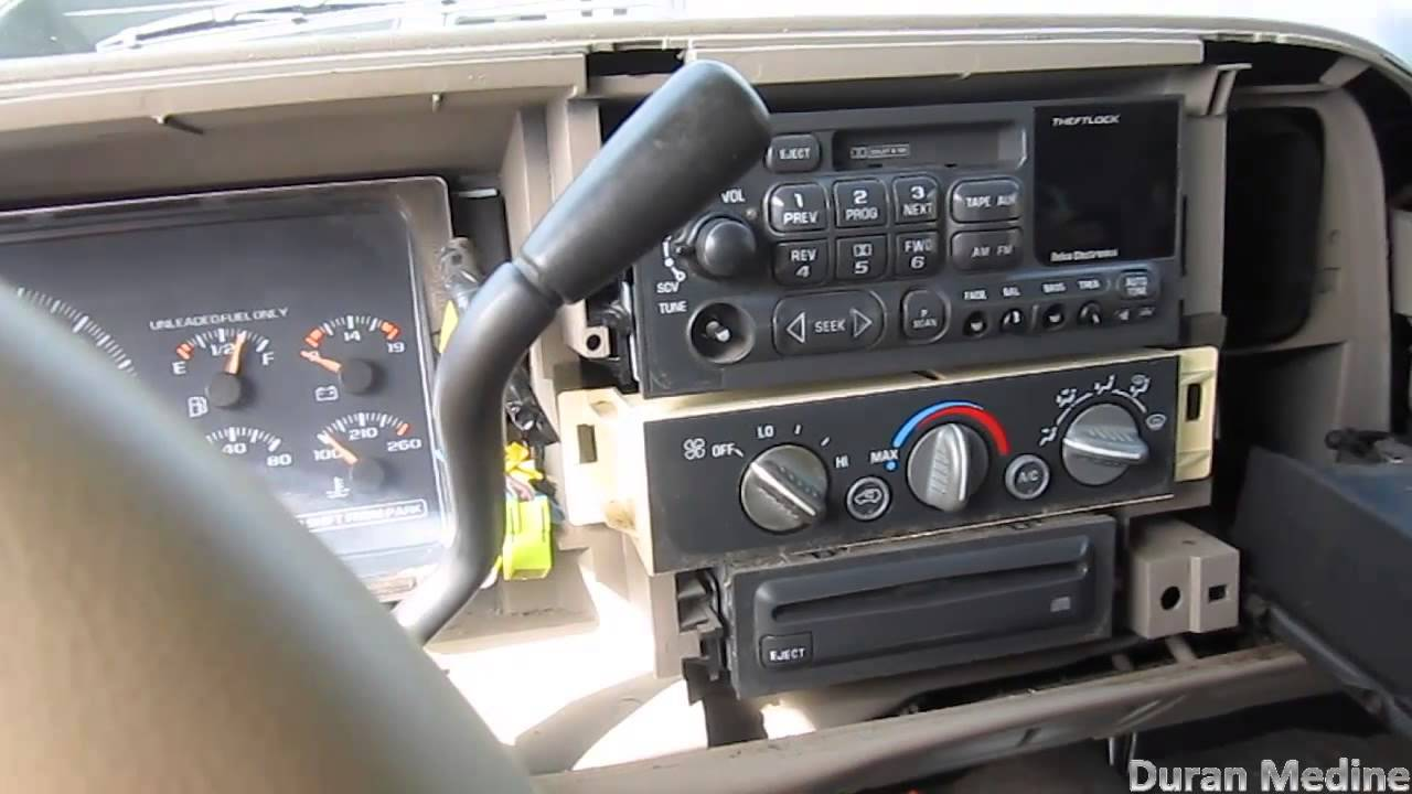 Re-Installing The OEM Delco GM radio back my in \'97 GMC Sierra - YouTube
