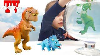Выращиваем динозавра. Полный аквариум с динозаврами.