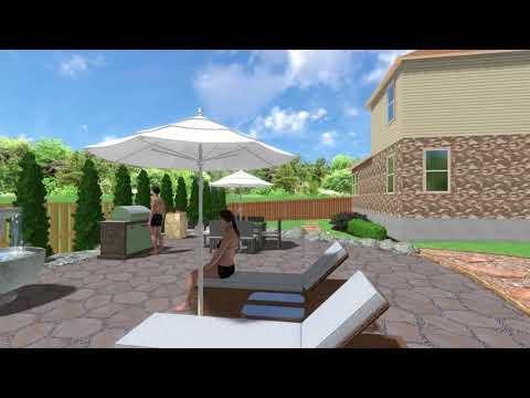 3D landscape design walkthrough