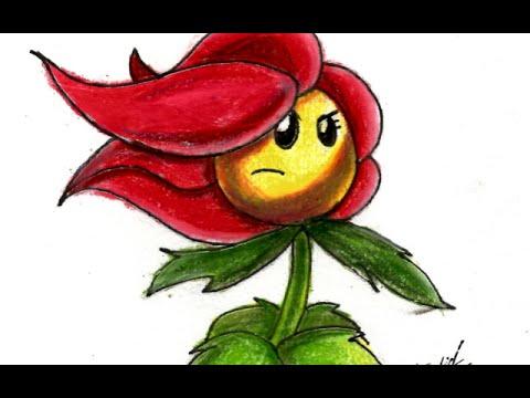Flor De Nochebuena Plants Vs Zombies Speed Drawing Youtube
