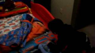 Kaleb Gets A Race Car Bed