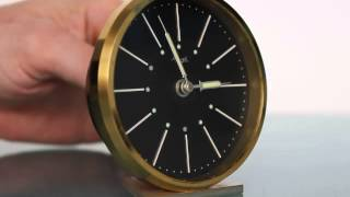 Kienzle 8 Days Alarm Desk Black Dial Vintage Germany Clock