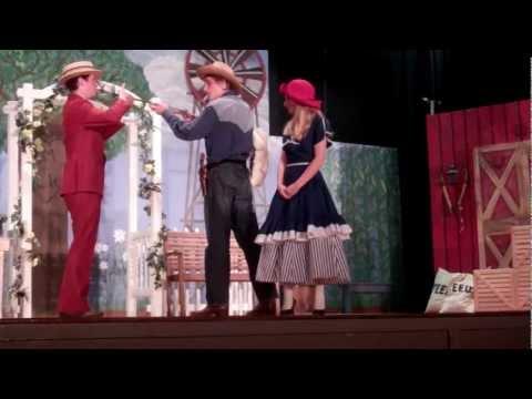 Ado Annie, Father and Ali Hakim Scene Oklahoma Fojo Players