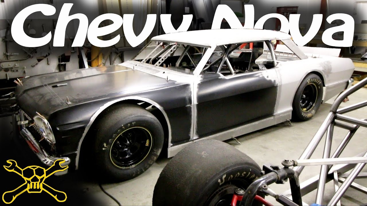 1964 chevy nova body on a hamke late model race car. Black Bedroom Furniture Sets. Home Design Ideas