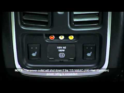 2012 Jeep Grand Cherokee Electrical Power Outlet - YouTube