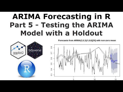 ARIMA Forecasting in R Part 5 - Testing the ARIMA Model with a Holdout Set  and Seasonality