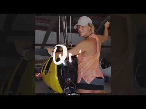 Gyrocopter Girl flying in Costa Rica 2018