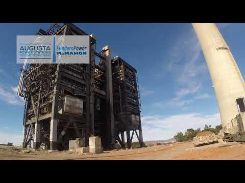 Northern Power Station Boiler Demolition 6