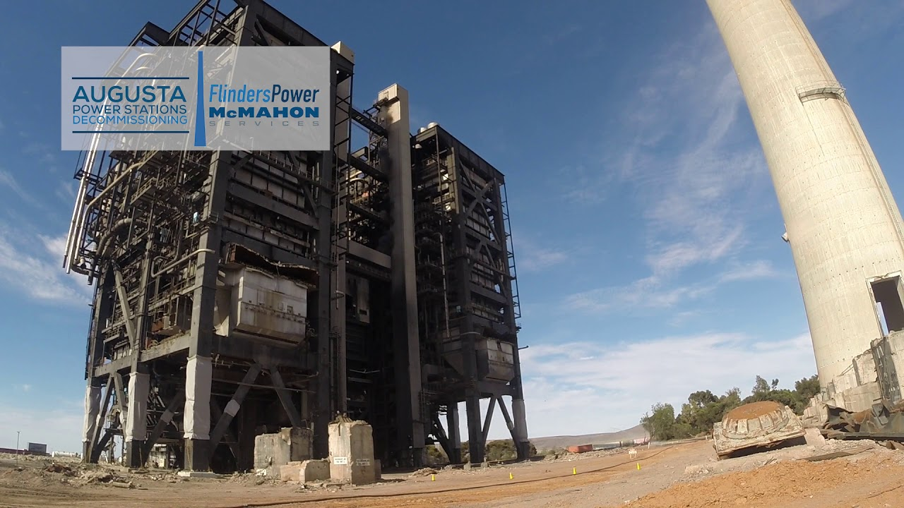Northern Power Station Boiler Demolition 6 - YouTube