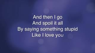 Something Stupid  - Robbie Williams (Lyrics)