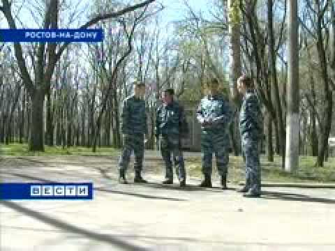 видео: Студенты-дружинники выходят на улицы Ростова.avi