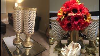 Dollar Tree DIY - 💕 Chevron Pillar Candleholders 💕