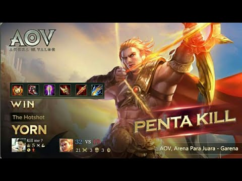 Best Build Yorn Arena Of Valor Xmaniac Xpentakill