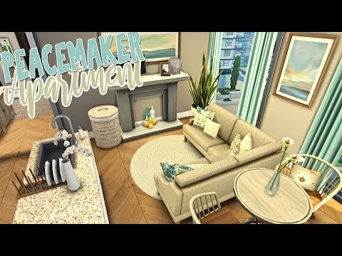 Peacemaker Apartment \ CC Showcase || The Sims 4 Apartment Renovation: Speed Build thumbnail