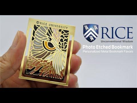 Rice university Bookmark Favors