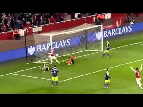 Arsenal vs Swansea City 2-2 - Goals & Highlights 25/03/2014
