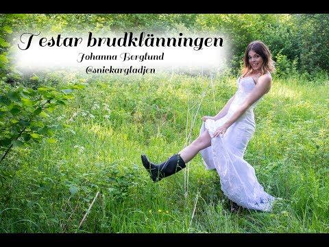 eb831ebe2445 Bröllop - testar brudklänningen igen - @snickargladjen - YouTube