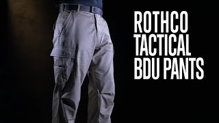 Tactical BDU Pants - Rothco Product Breakdown