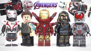 Avengers Endgame Final Battle Iron Man Mark 85 Hawkeye Ant man Happy Unofficial Lego Minifigures
