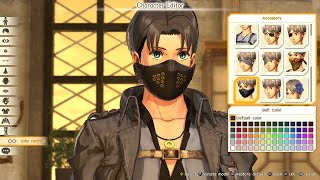 ATTACK ON TITAN 2 - Full Character Creation & Customization (All Options) PS4 Pro