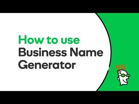 How to use Business Name Generator