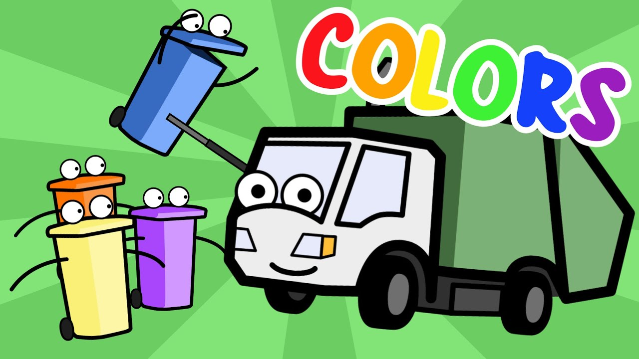 Learning Colors Song With Munchie The Garbage Truck Baby, Toddler ...